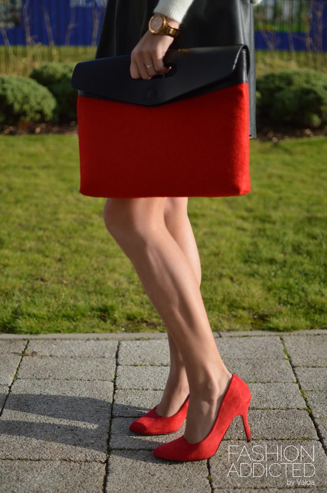 red asos bag
