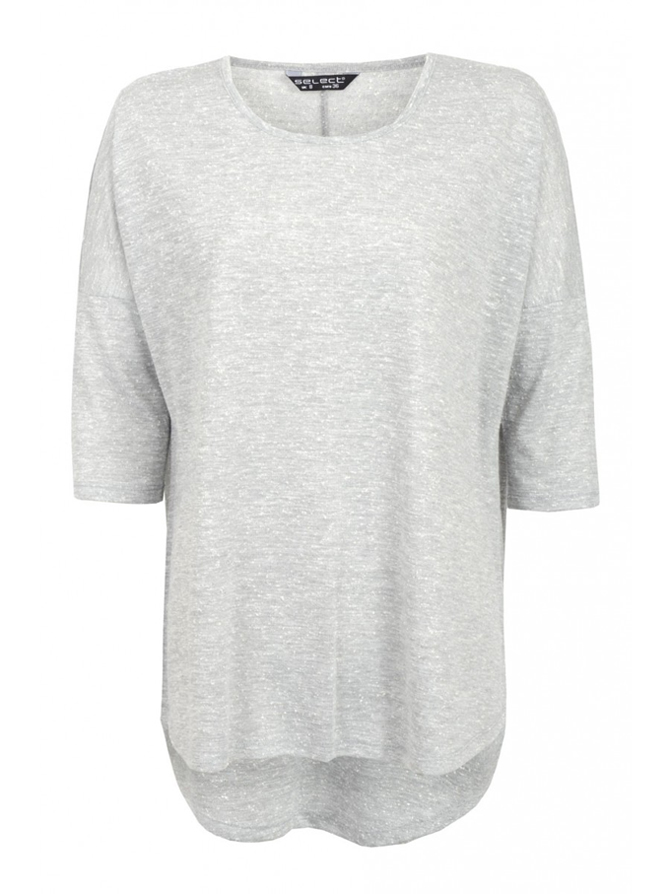 Select drop shoulder 3/4 sleeve top