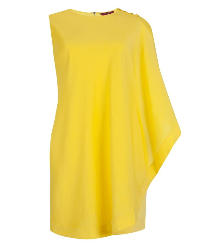 Ted-Baker-Bolty-one-side-draped-dress-YELLOW