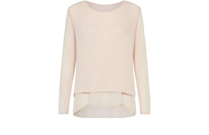 misumi-light-pink-2-in-1-chiffon-hem-jumper