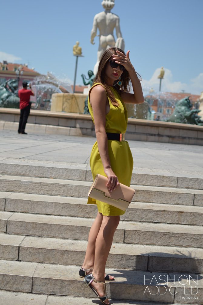 Yellow-cocoon-dress