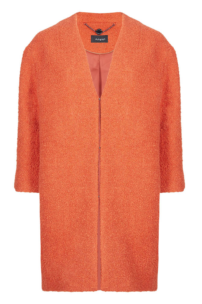 Buttonsafe Textured Duster Coat with New Wool
