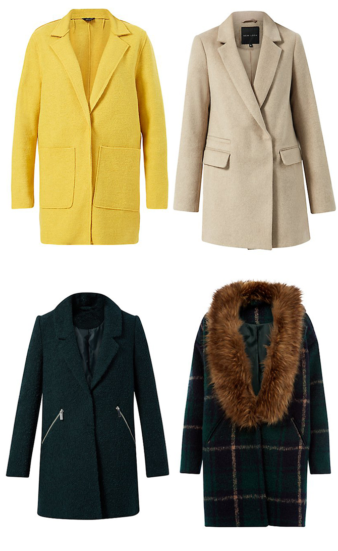 Green-Check-Faux-Fur-Collar-Coat