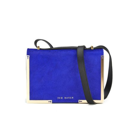 Ted Baker Metal Corner Cross Body Bag - Bright Blue