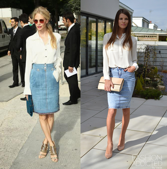 Denim Look Skirt - Redskirtz