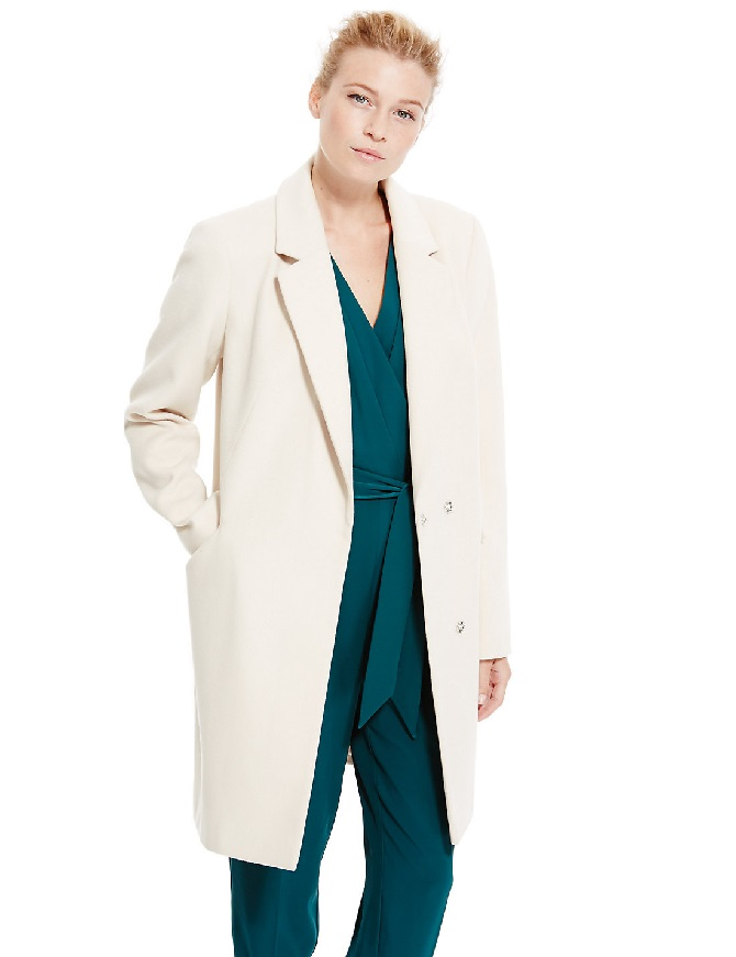M&S Revere Collar Overcoat