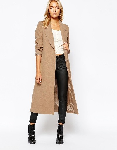 Boohoo Smart Tailored Long Line Coat