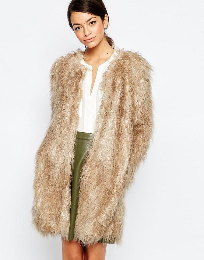 Traffic People Embrace Jacket In Faux Fur