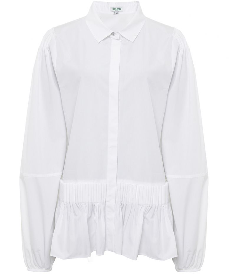 kenzo-ruffled-cotton-shirt