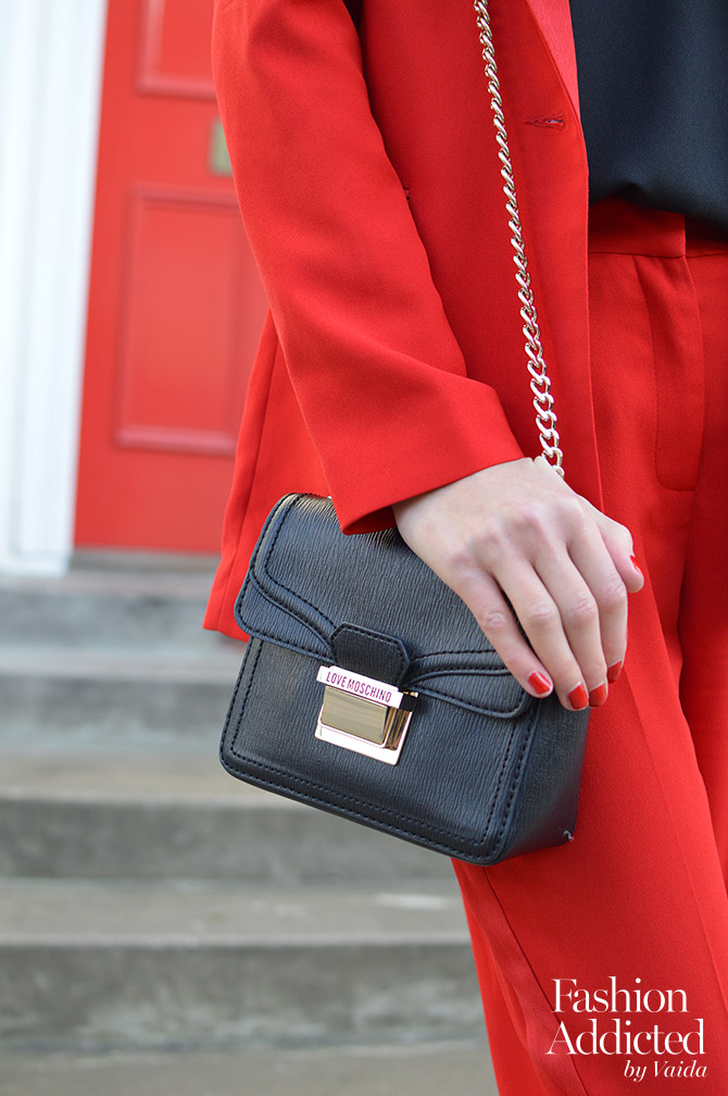 red-women-suit-outfit-blazer-tailored-pants-moschino-cross-body-bag