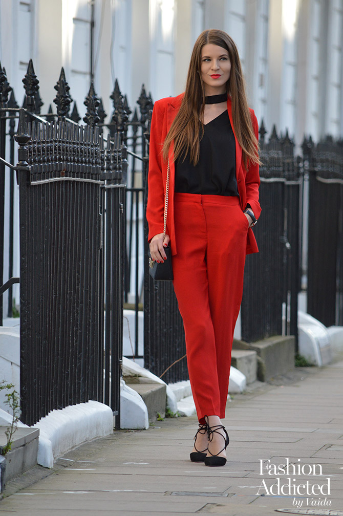 Simple  Blog Red Suits Pants Suits Colors Suits Beautiful Red Heidiklum