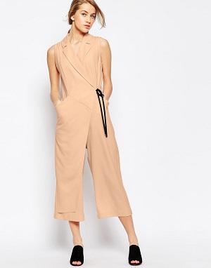 ASOS Wrap Jumpsuit with Contrast Tie