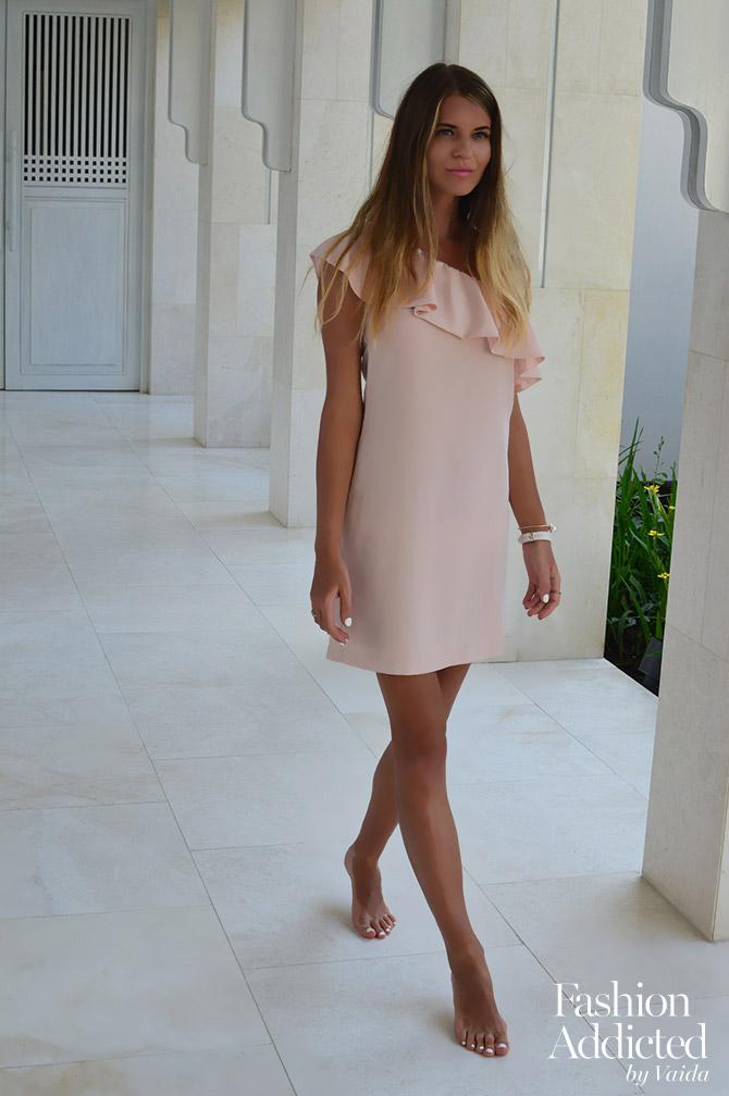 La-Redoute-Pink-Dress-one-shoulder-holiday-dress-01