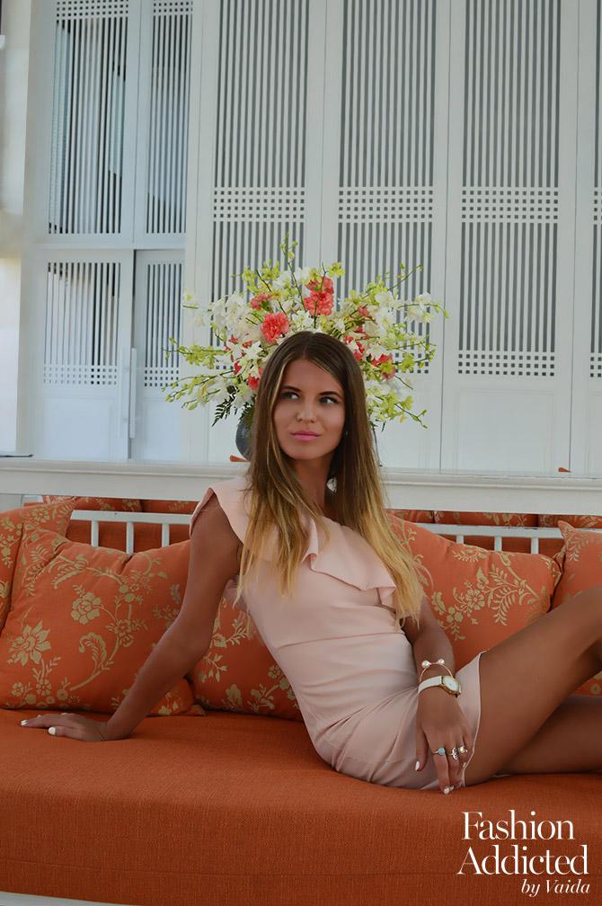La-Redoute-Pink-Dress-one-shoulder-holiday-dress