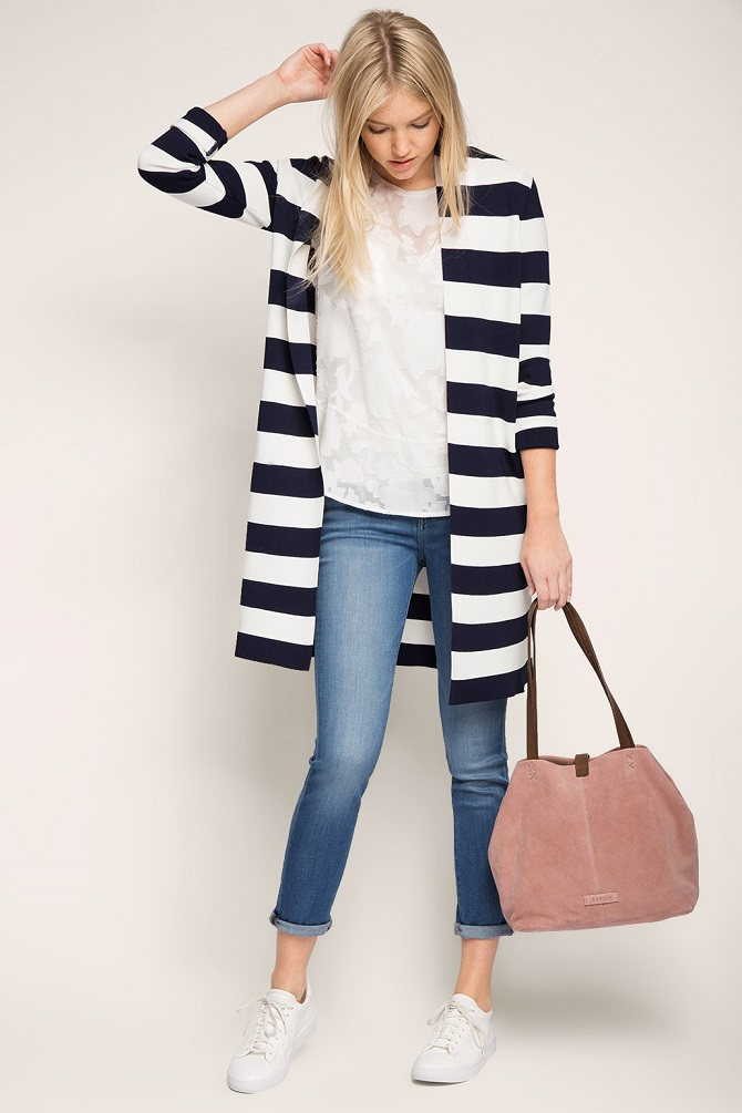 Esprit-Trendy-cardigan-with-block-stripes