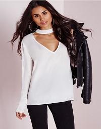 choker-blouse-white