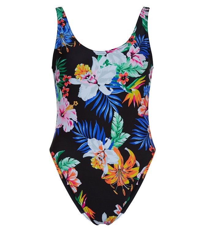 New Look- Tropical-Print-High-Leg-Swimsuit