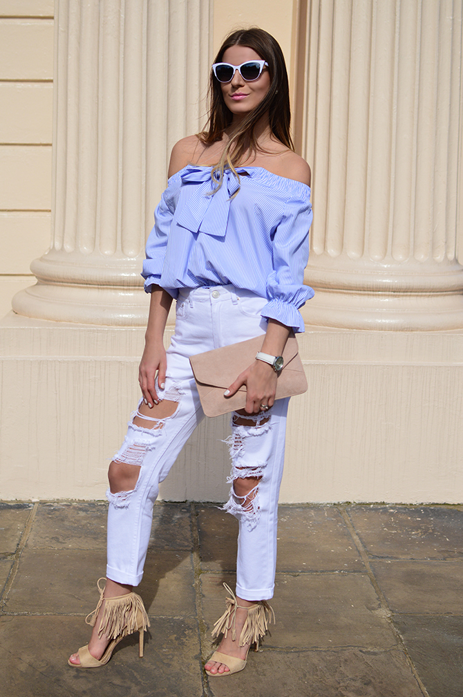 lasula-mom-ripped-jeans-off-shoulder-top-striped-blue-fashion-blogger-london