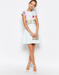 Ted Baker Rivana Hanging Gardens Skater Dress