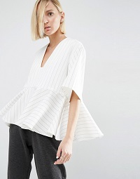 asos-white-stripe-peplum-top