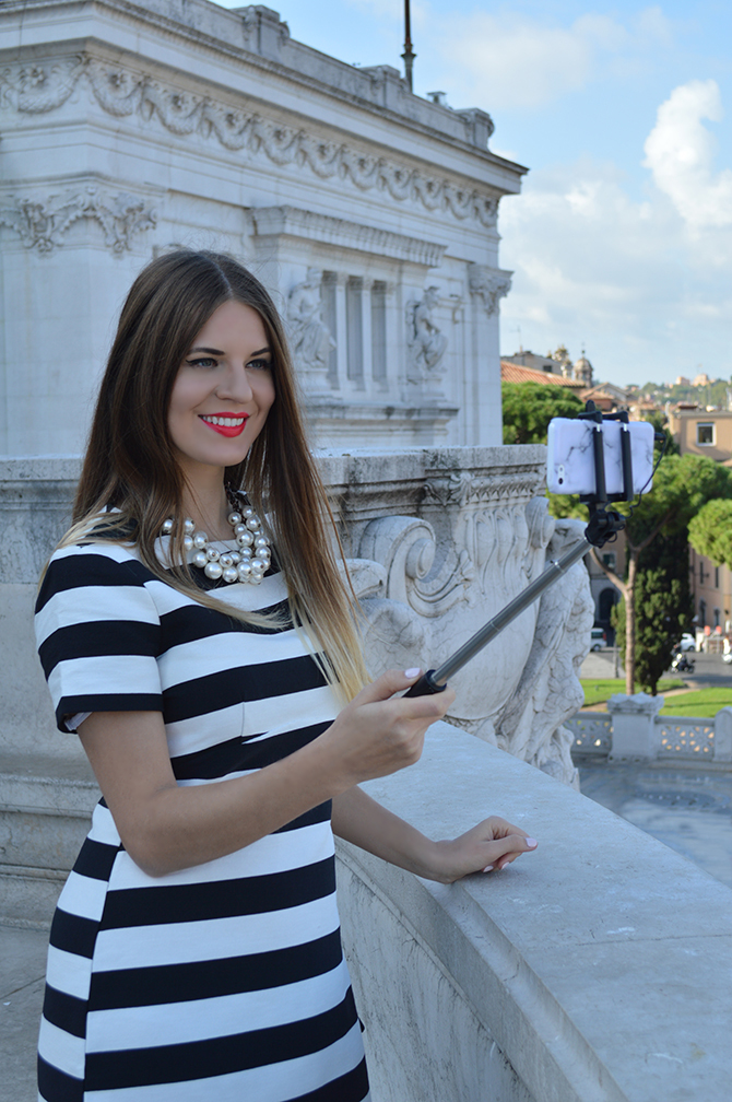 asos-stripe-dress-zara-pearl-necklace