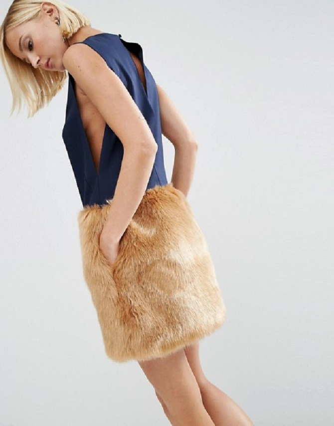 asos-white-mini-dress-with-faux-fur-skirt