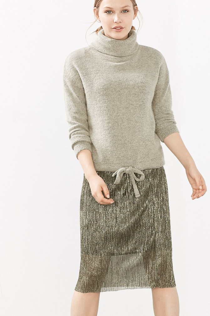 esprit-pleated-skirt-gold-1