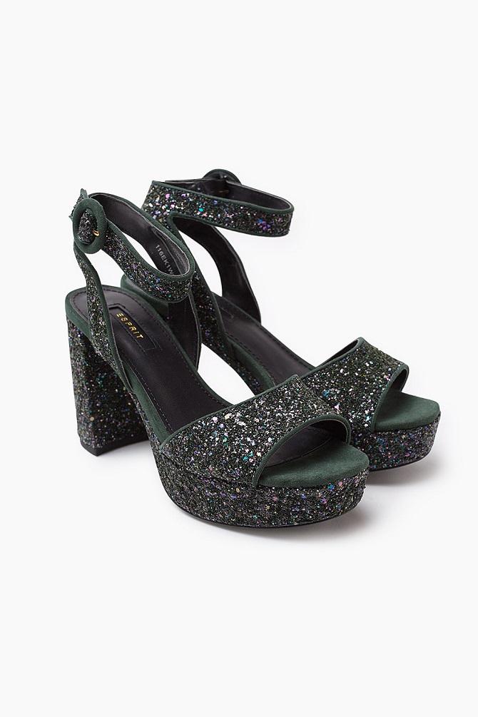 esprit-green-glitter-shoes
