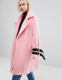 STYLENANDA Overcoat With Strap Detail