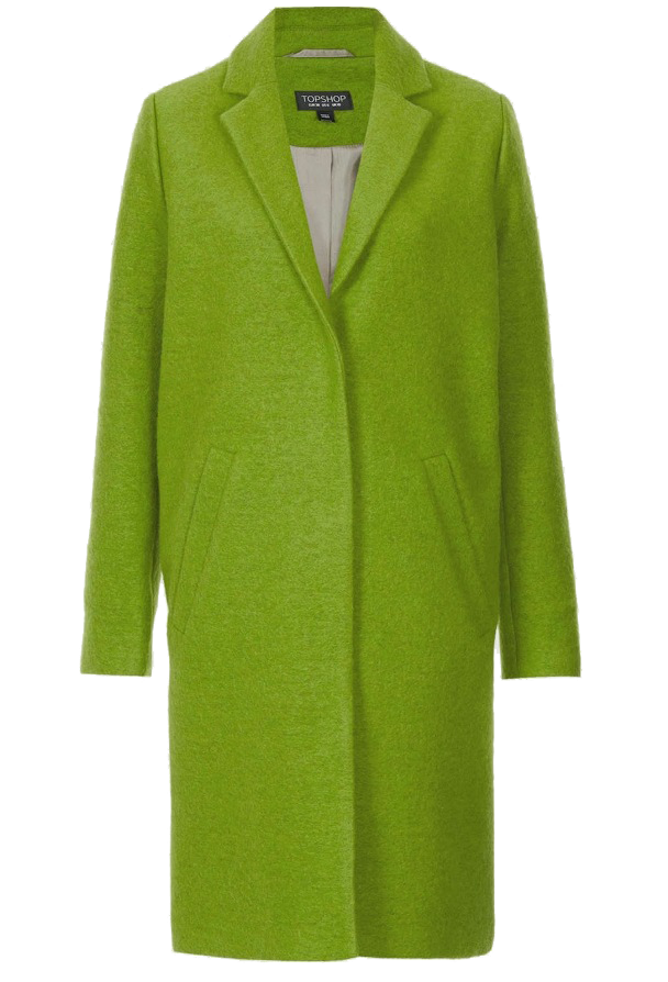 Topshop-boyfriend wool coat Lime