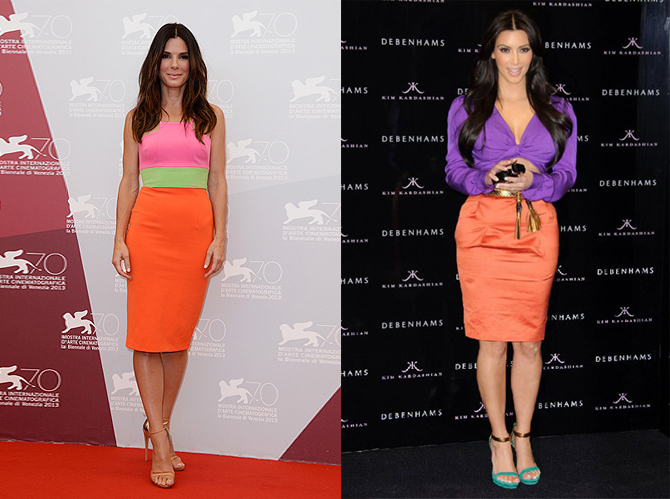 colour block celebrities