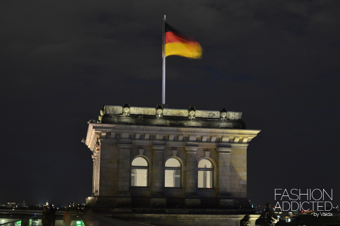 Reichstag night flag