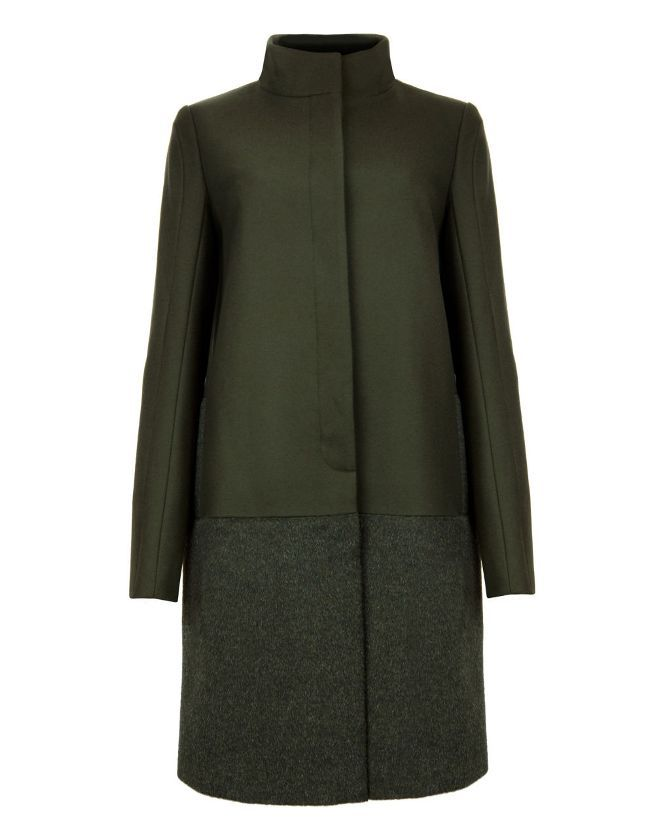 Ted Baker REMEI Mohair green coat