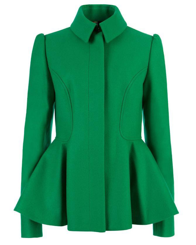 ted-baker-SOLLEL-short-peplum-coat-GREEN
