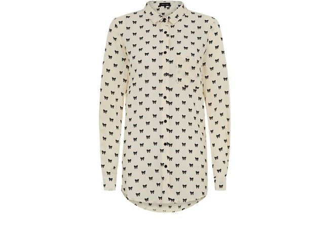 white-bow-print-long-sleeve-shirt
