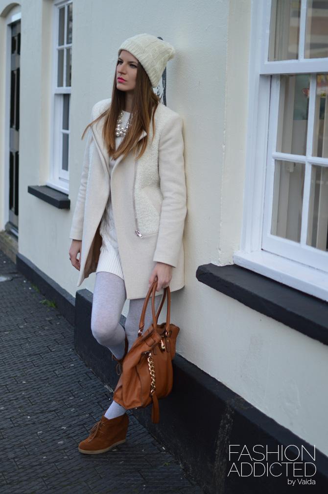 White-knit-dress