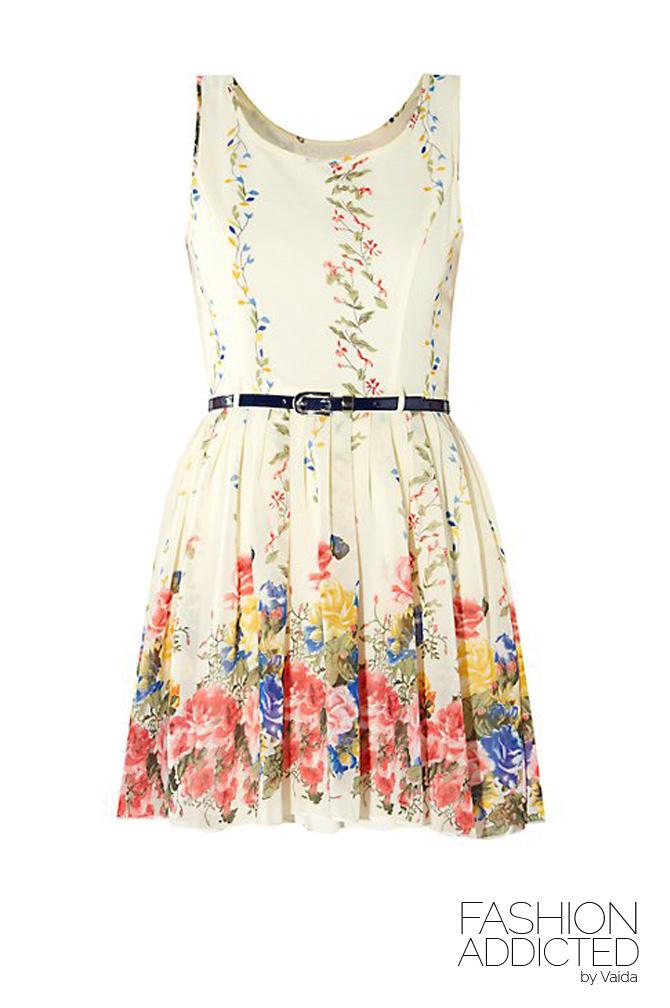 New-Look-Parisian-Flower-Print-Dress