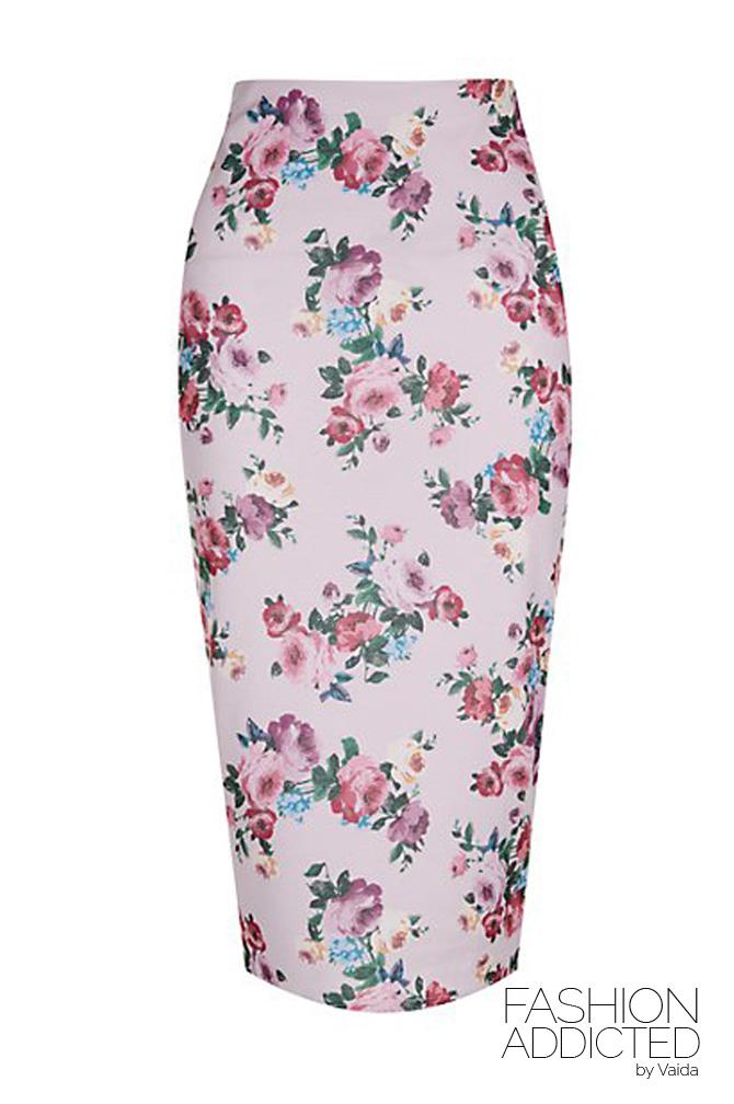 New-Look-Pink-Floral-Print-Midi-Skirt