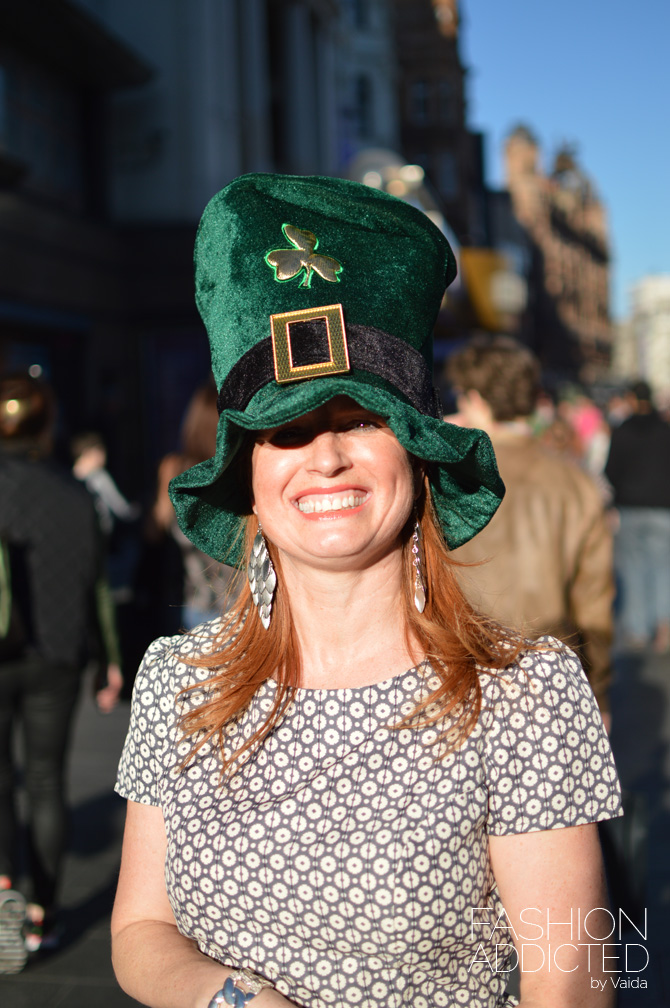 st patrick's day people in london