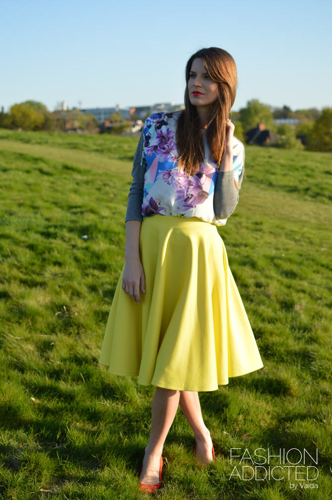 Yellow Midi Skirt - Dress Ala