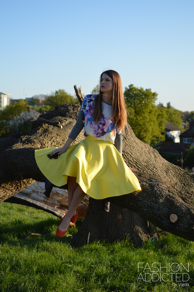 yellow-midi-skirt