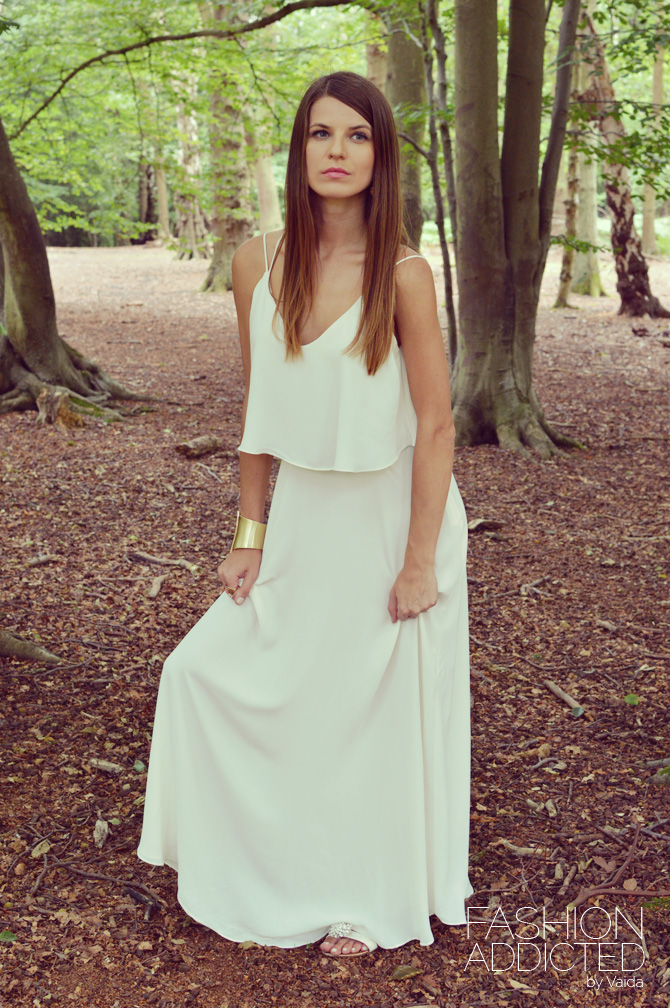 Zara Maxi Dress With Fine Straps Fashion Addicted
