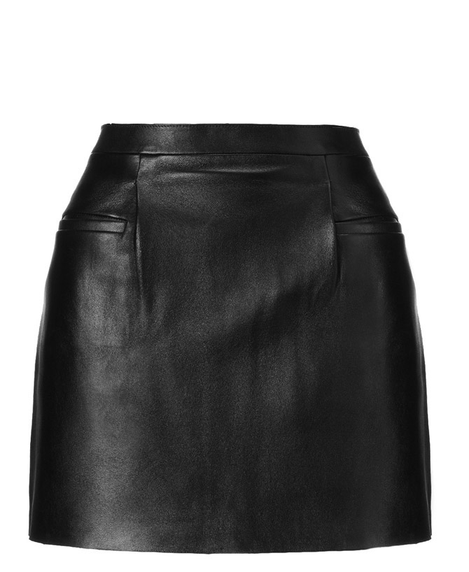 J-W-Anderson Black Leather Mini Skirt