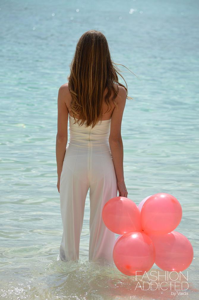 white bandeau jumpsuit