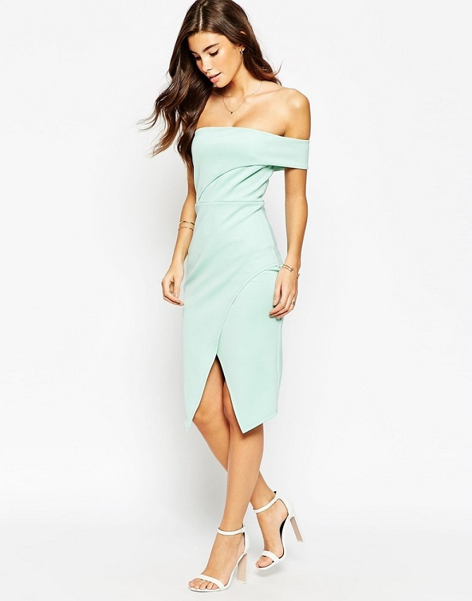 ASOS Asymmetric One Shoulder Bandeau Dress