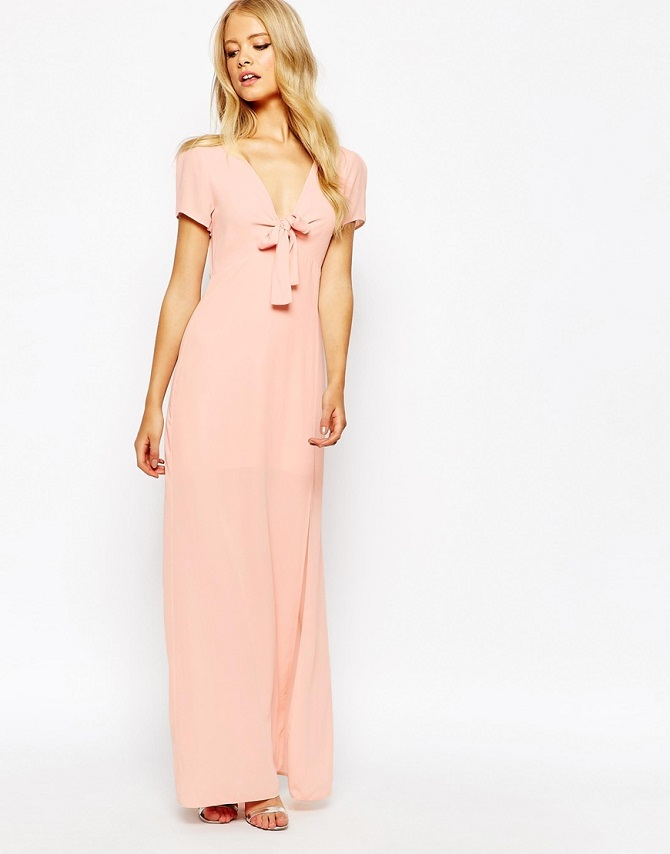 Love Bow Front Maxi Dress