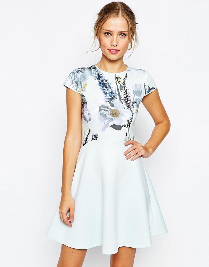 Ted Baker Faythe Torchlit Floral Skater Dress