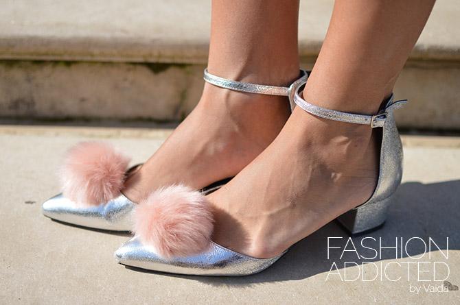 ASOS pom pom shoes