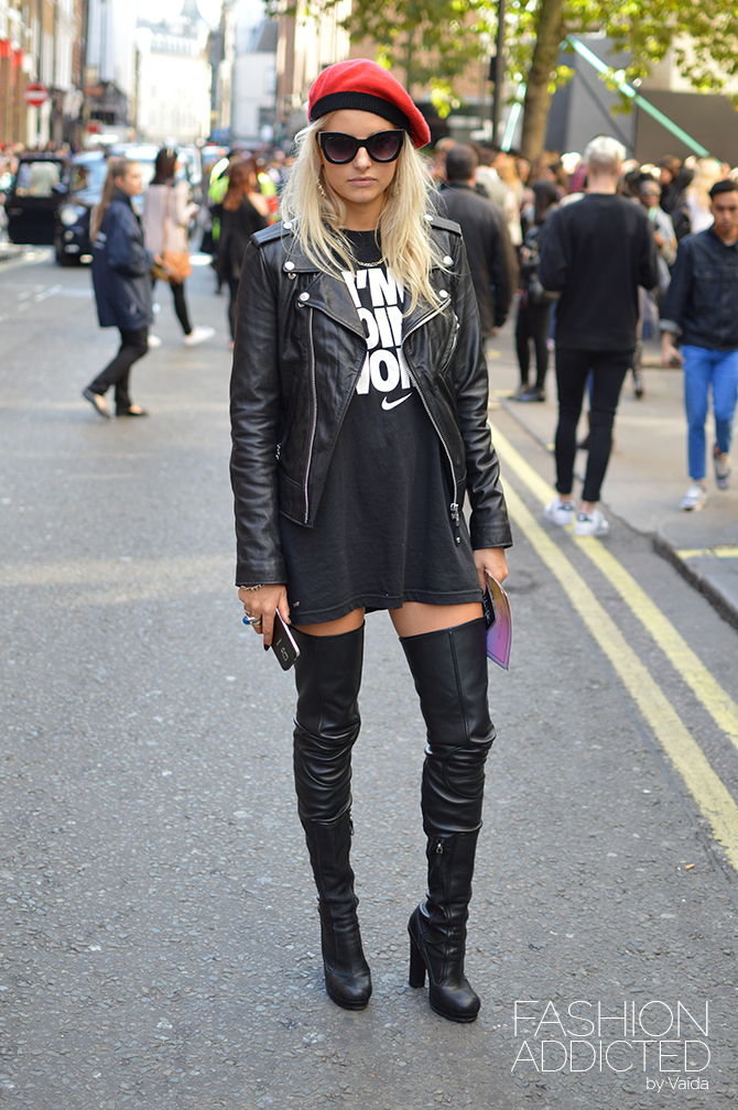 London fashion week ss16 streetstyle fashion addicted Girl fashion style london