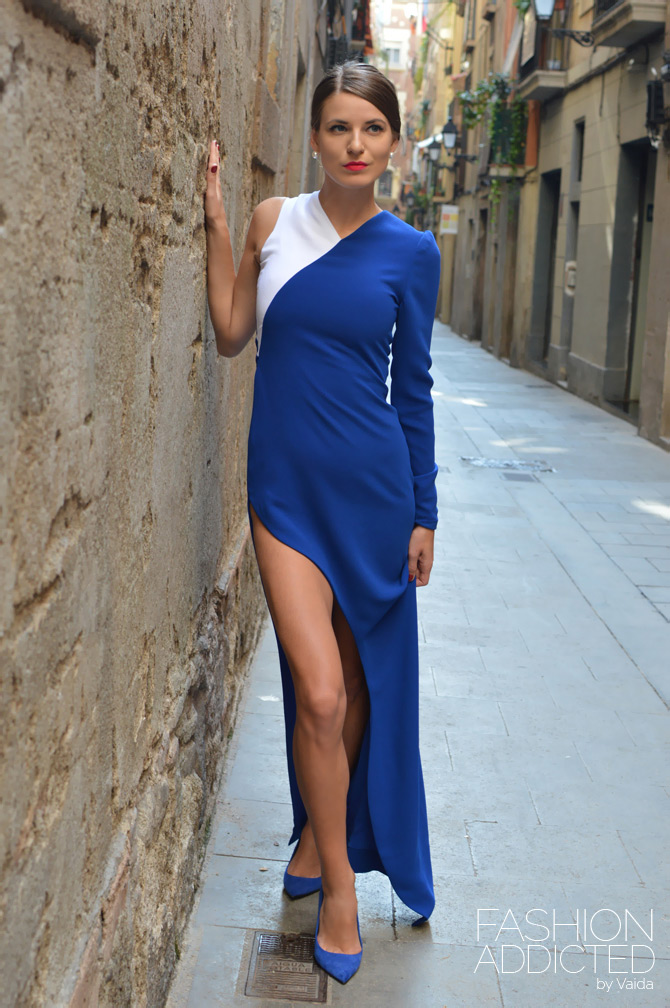 Fabryan Blue and White Dress